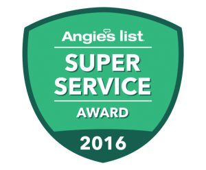 Happy Trees Angie's List Super Service Award 2016